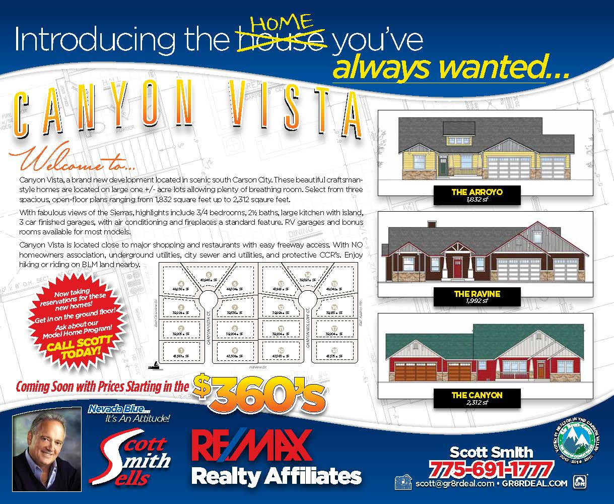 Canyon Vista - Carson Cities Newest Custom Home Community
