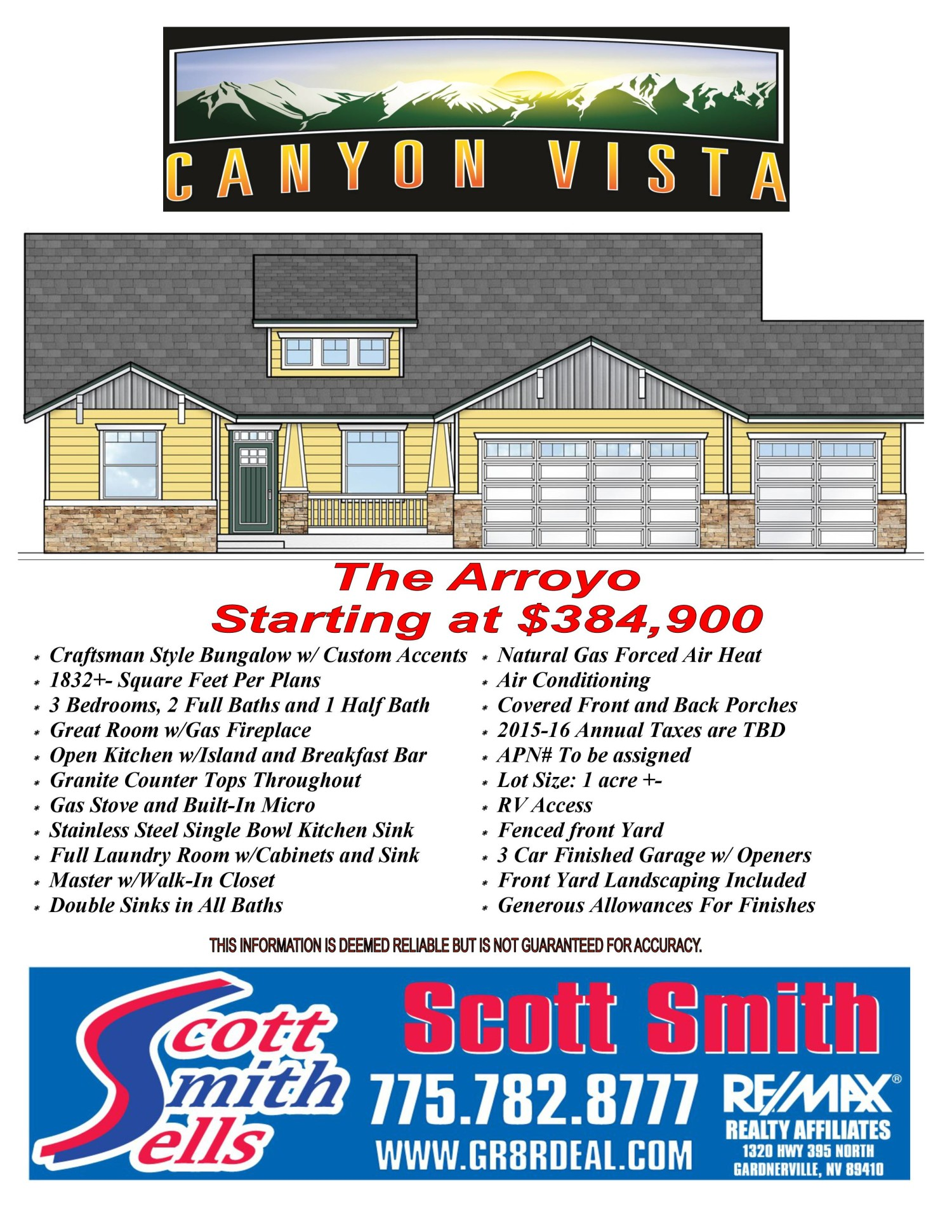The Arroyo - A Canyon Vista Exclusive in Carson City