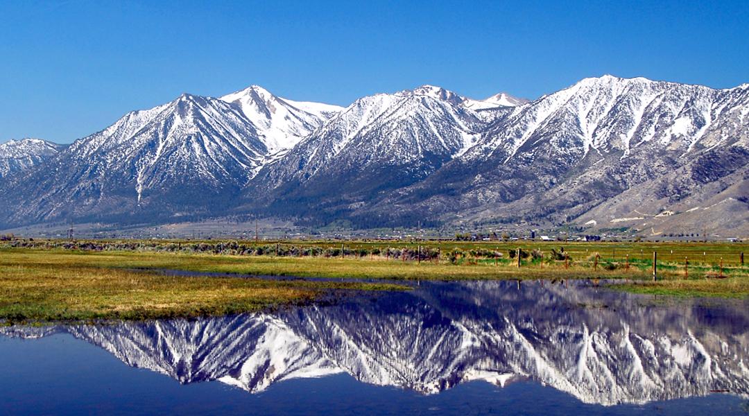 Carson Valley mountain reflection