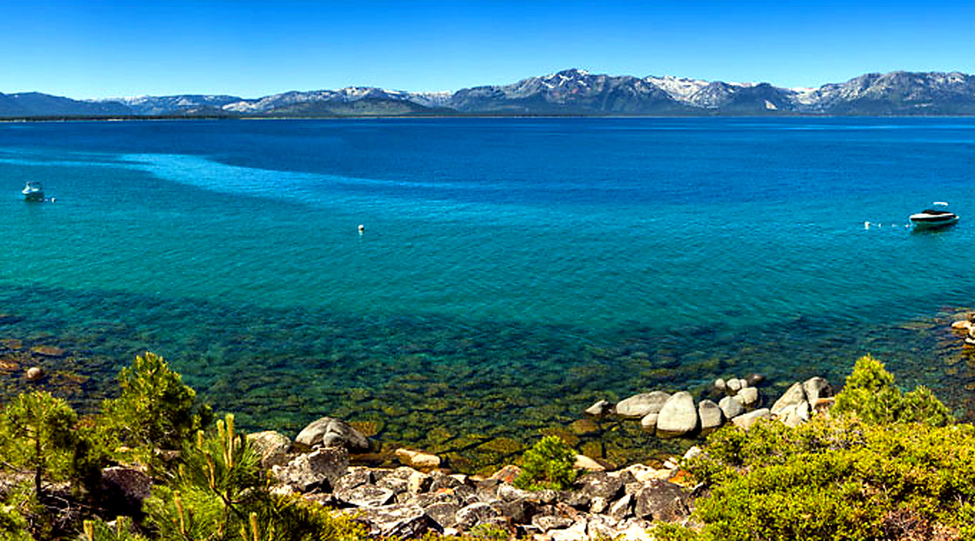 Tahoe blue water